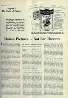 Motion Pictures - Not for Theaters