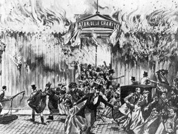 Fire at the Bazar de la charité, in Paris, on May 4, 1897