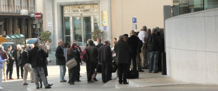 Queue outside the Verdi