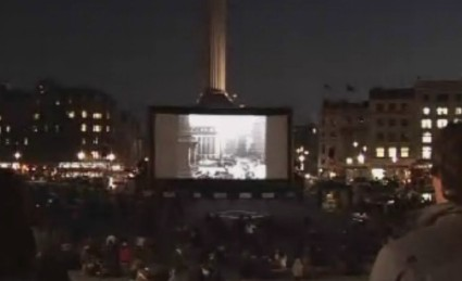 Silents in Trafalgar Square