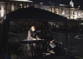 John Sweeney in Trafalgar Square