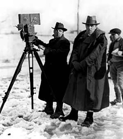 D.W. Griffith in the snow
